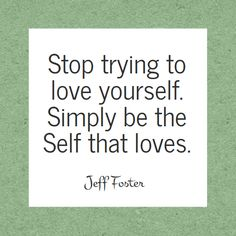 The Self That Loves