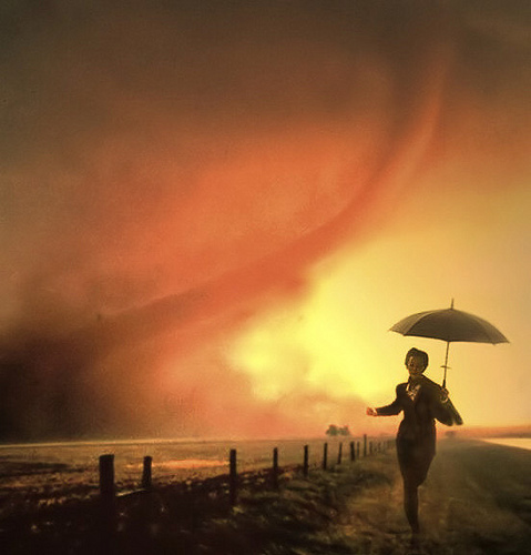Lady in a Storm